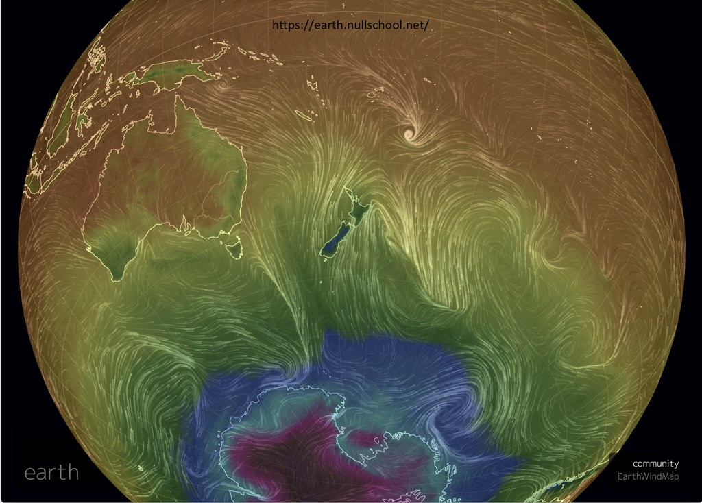 Wind from Antarctica.