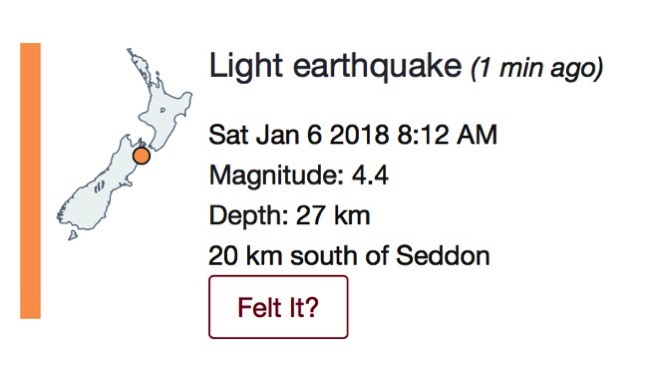 A little 4.4 earthquake.