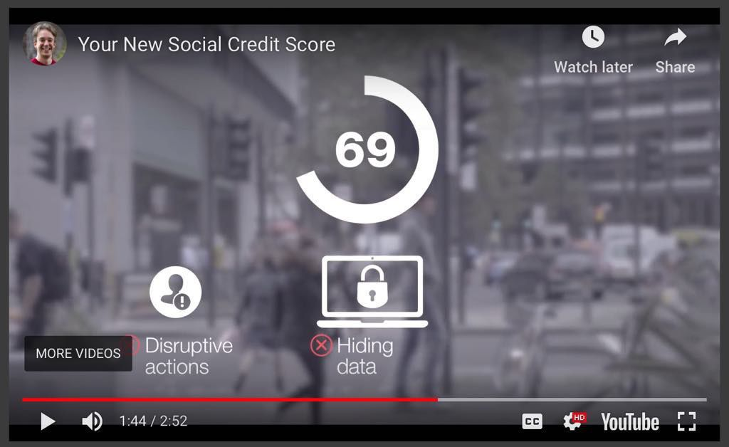 Screenshot from the video showing points being deducted for disruptive behaviour or hiding data.