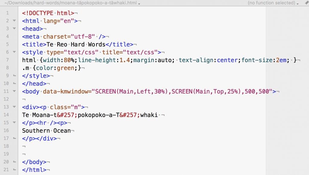 HTML file.
