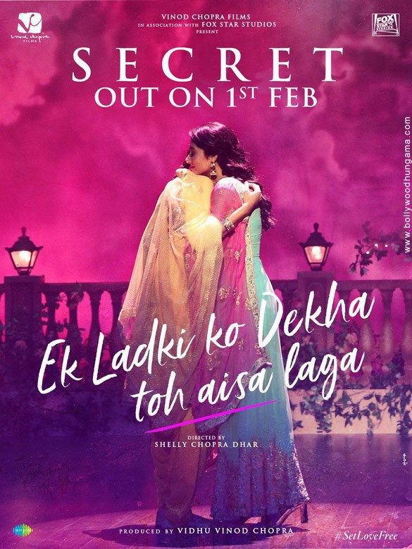 Poster for the movie Ek Ladki Ko Dekha To Aisa Laga, showing two women hugging.