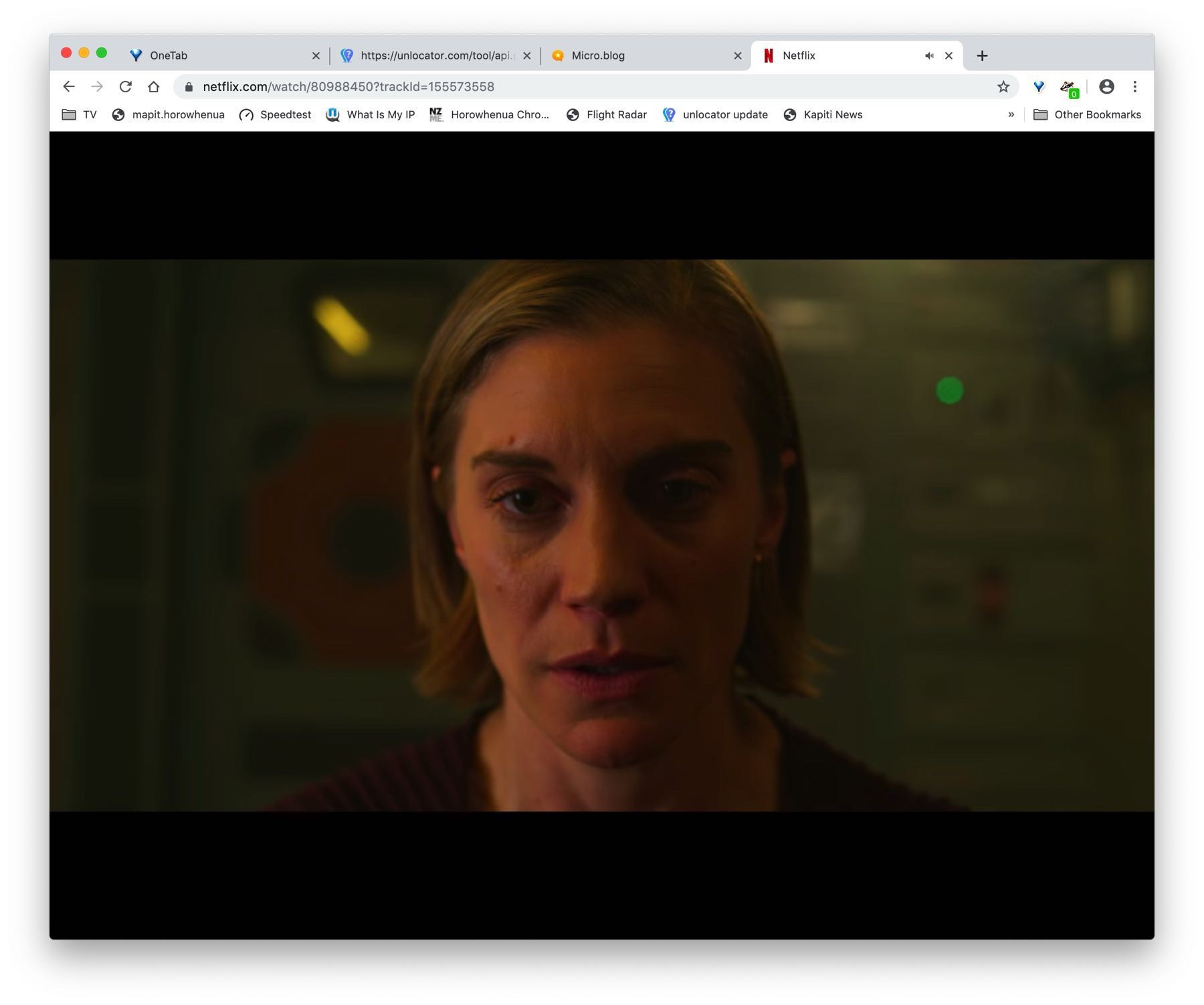 Katee Sackhoff in a still from Another Life.