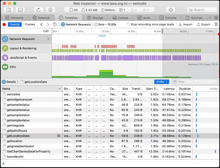 How to find the data I want thanks to the Web Inspector.