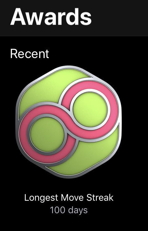 Apple Activity move streak badge.