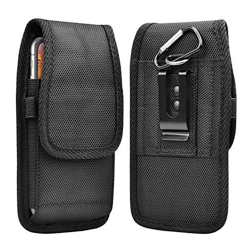 Takfox Phone Holster - nylon carrying pouch with flap and belt clip.