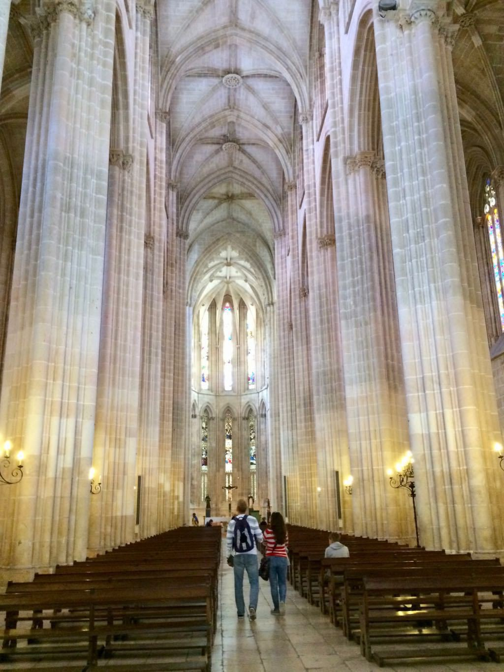 Batalha cathedral in Portugal - soaring columns.