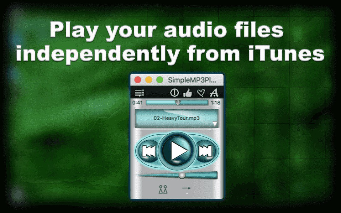 Simple MP3 player publicity image.