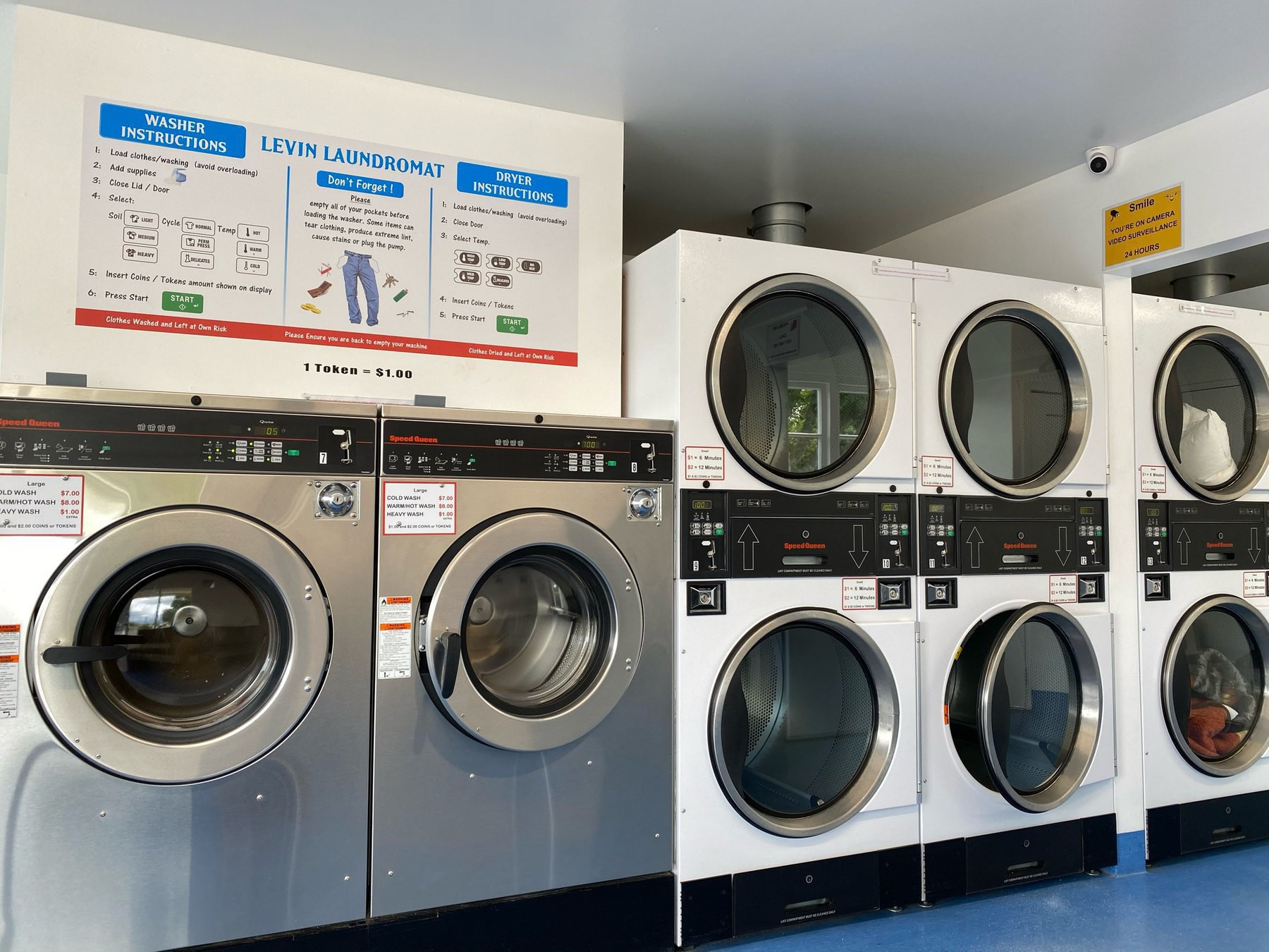 washers and dryers.