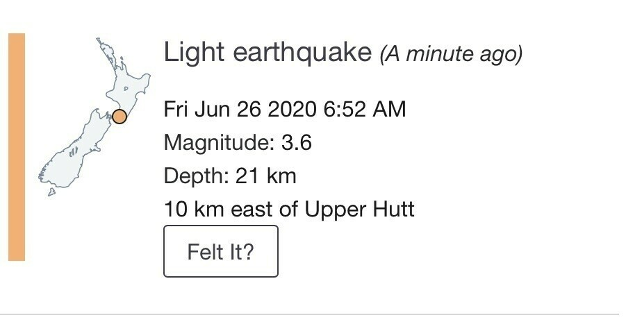 Details of a nearby quake M3.6.