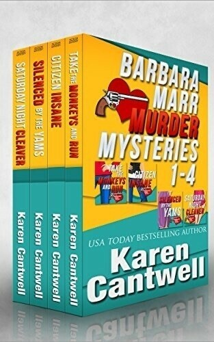 Boxed set book cover, Barbara Marr Mysteries.