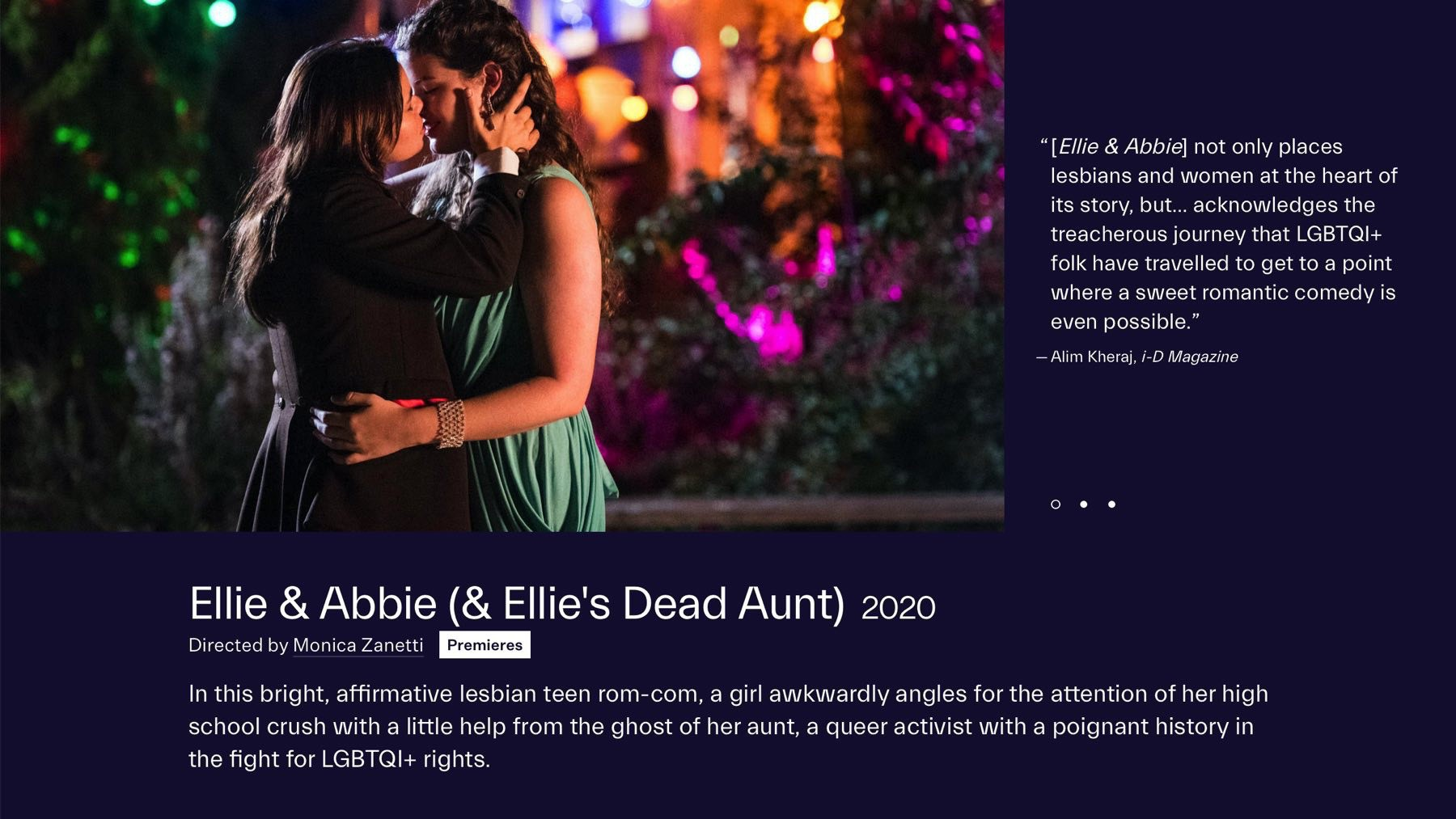 Movie photo and image on Festival web page.