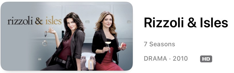 Rizzoli and Isles promo shot.