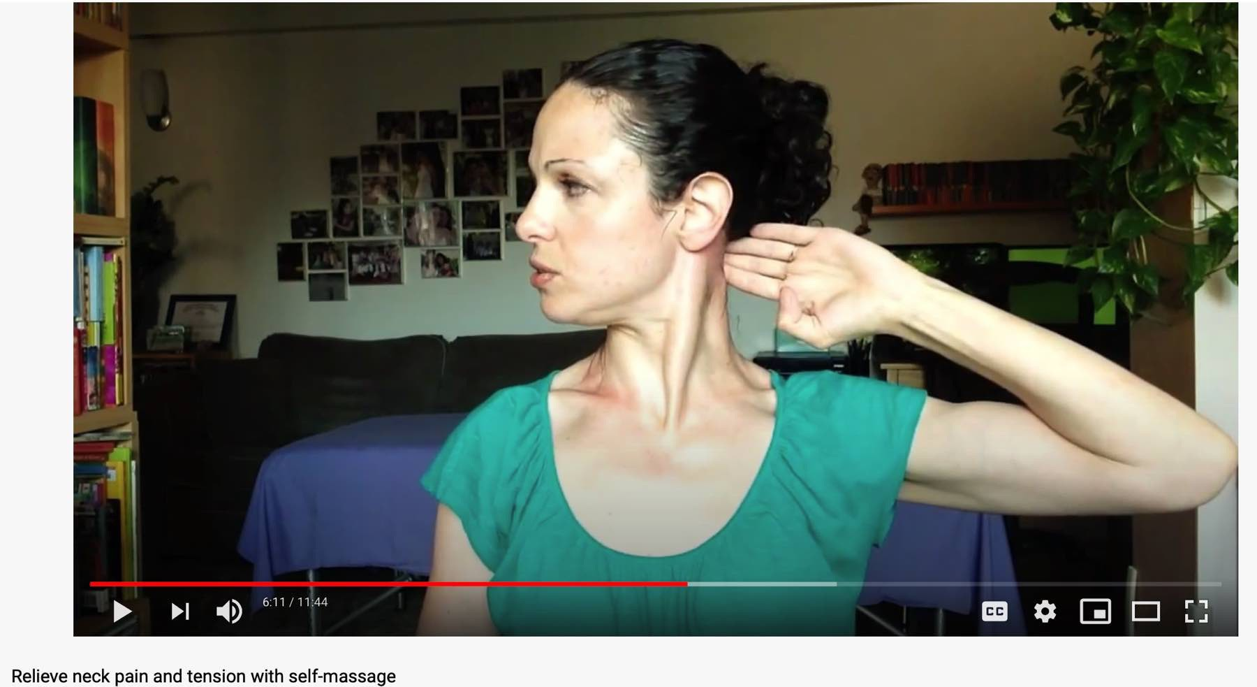 Neck massage screenshot.