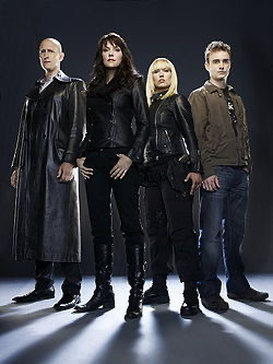 Some of the Sanctuary cast.
