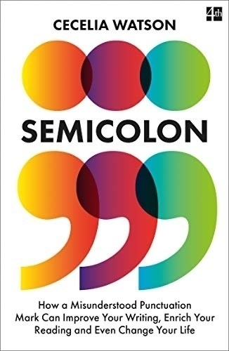 Semicolon book cover.