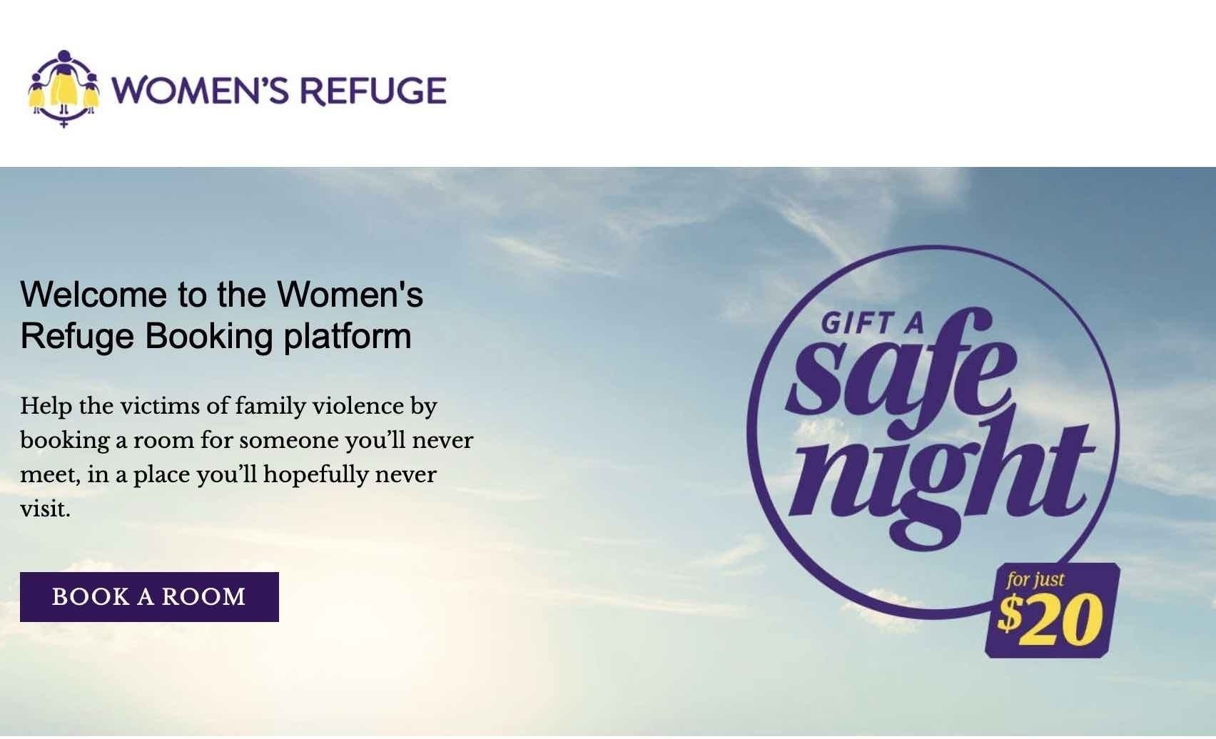 Screenshot of Safe Night home page.