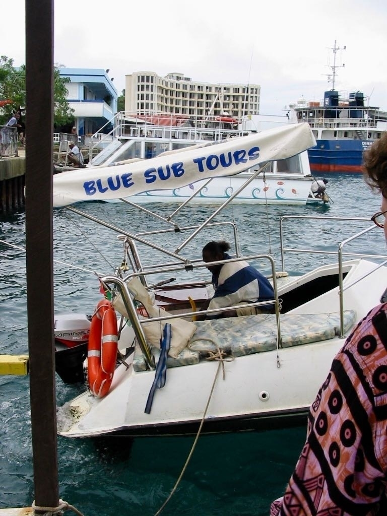 The Blue Sub Tours boat.