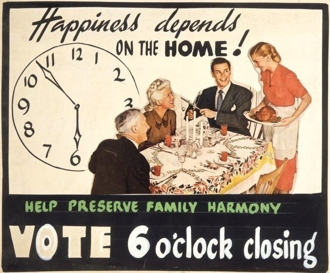 Happiness depends on the home propaganda poster.