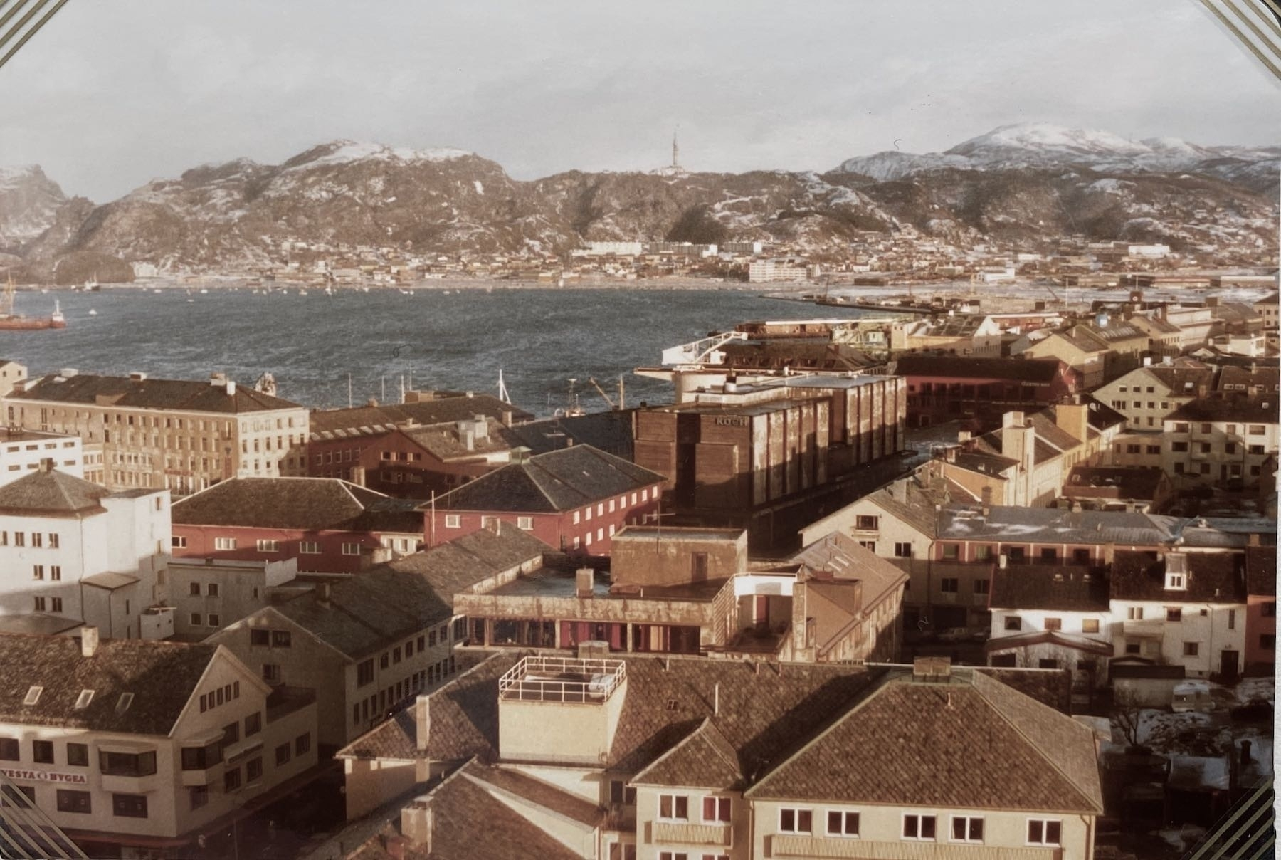 View across Bodø to the harbour.