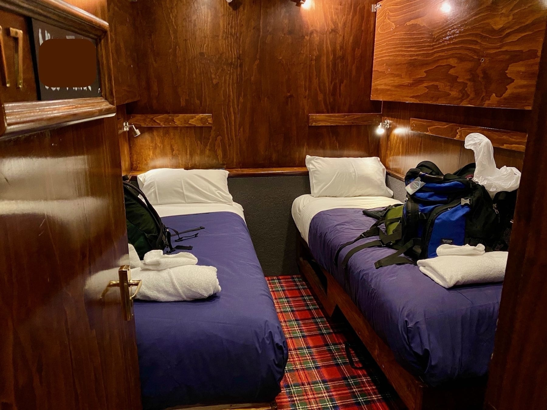 Cabin with two bunks.