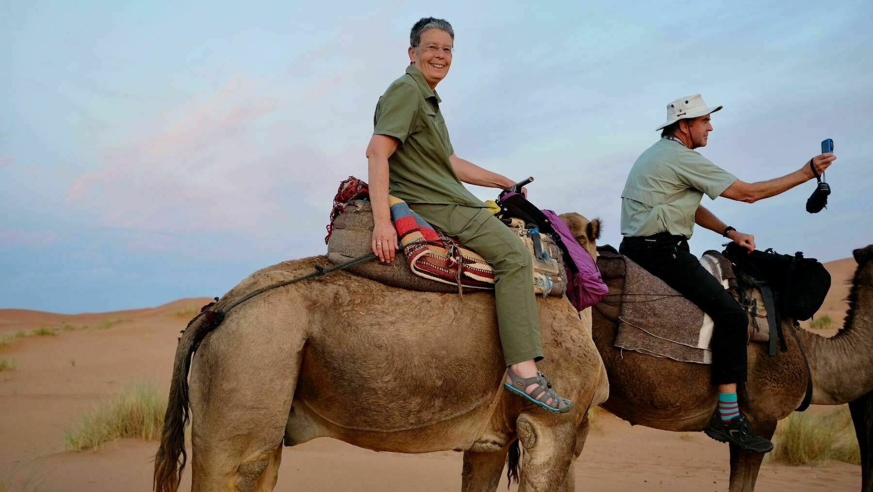 Me on a camel in Morocco.
