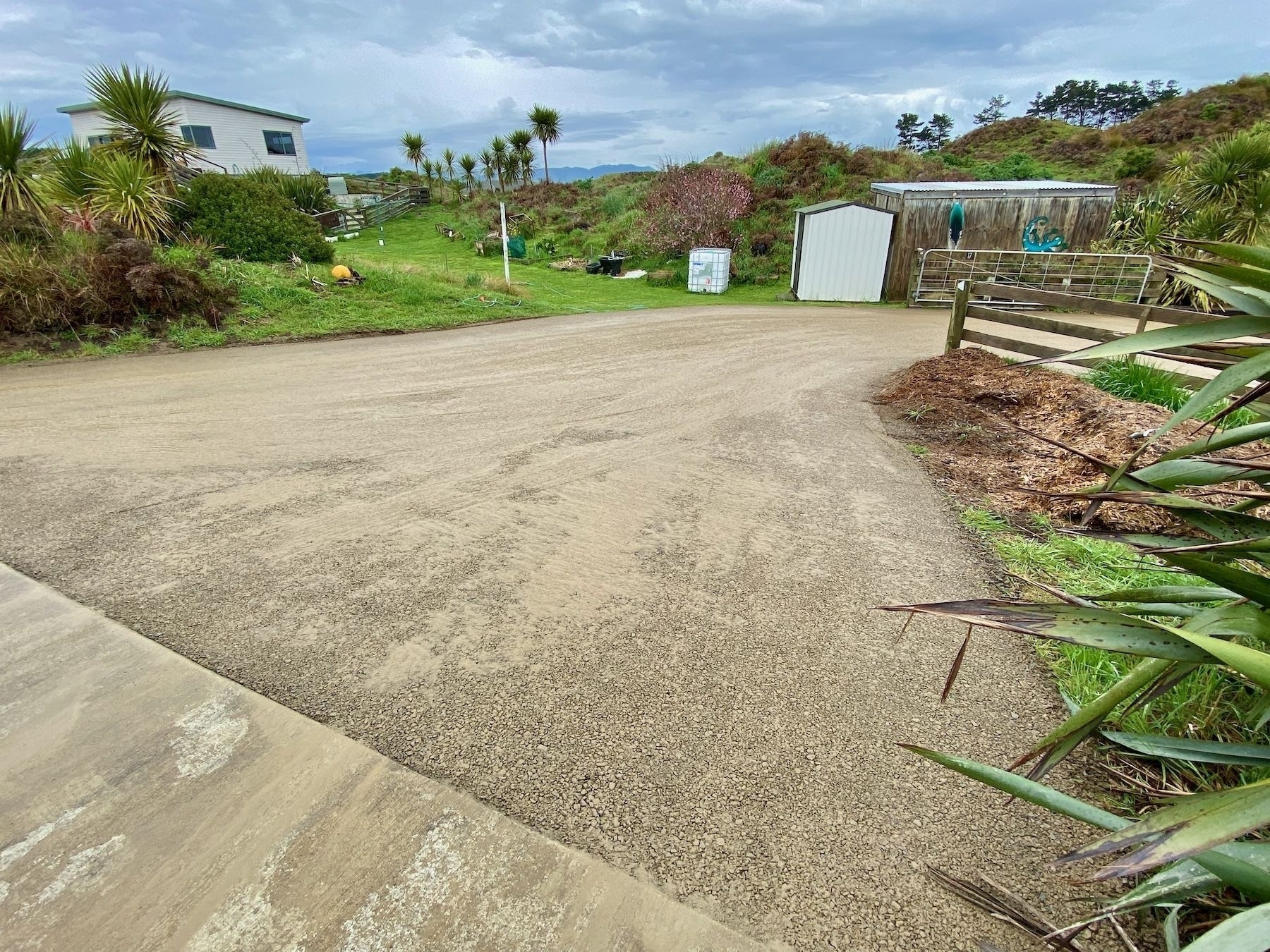 Our resurfaced driveway section from another angle.