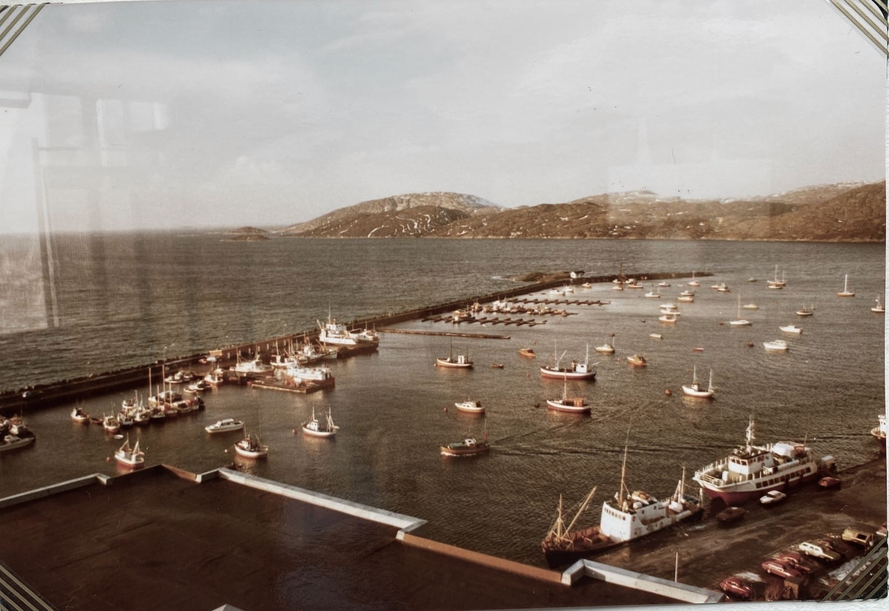 Harbour from a second story cafe in Bodø.